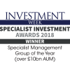 Specialist Investment Manager of the Year 2018