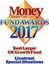 Money Observer Fund Awards - Best Larger UK Growth Fund - Liontrust Special Situations