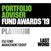 Portfolio Adviser Awards 2019 ESG Fund Management Group Platinum